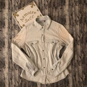 ⚡️Charlotte Russe Button Down Chambray Shirt